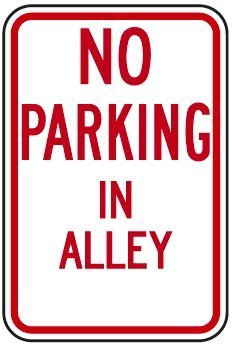 No Parking In Alley Sign Funny Yard Decorative Signs for Out
