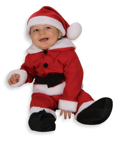 [Rubie's Costume Co Fleece Santa W/Belt Costume, Infant] (Infant Santa Costumes)