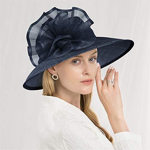 Summer Sun Hat Beach Hat Wedding hat,Bridal Accessories,Women's Fascinators,Hemp Yarn Big Brim hat, Elegant Linen Horse hat Girl, Beach Shade hat,B