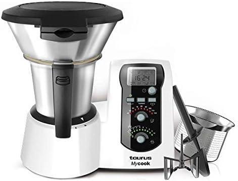 Taurus Robot de cocina Mycook 2 l 1600 W – Con Báscula y tecnología de inducción – más de 3000 Recetas con un clic – Incluye Libro de cocina: Amazon.es: Hogar