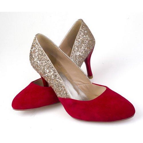 Farben Matt Toe Pumps 5 UK Closed VogueZone009 High Spikes Verschiedene Heel Round Mikrofaser Stilettos Rot Womans wzPBqUgSxF