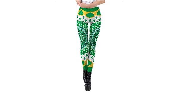 ZGDGG St.Patricks Day Leggings para Mujer Traje Verde ...