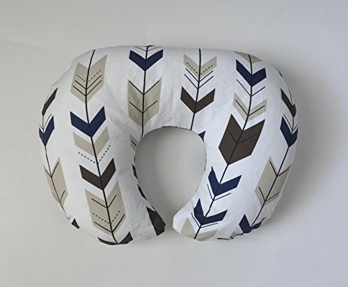 Nursing Pillow Cover - Navy and Tan Fletching Arrows by Lullabies and Lollipops
