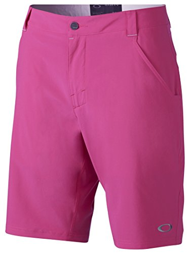 Oakley Mens 441734 Sanders 10.5 Golf Short, Fuchsia - - Golf Gear Oakley