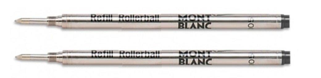 Montblanc MNB15158 - Rollerball Pen Refill, Medium Point, 2/PK, Black Ink by MONTBLANC