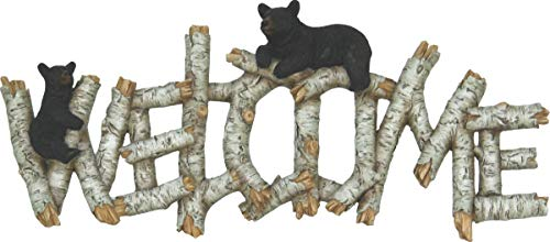(River's Edge Products Birch Bear Welcome Plaque)