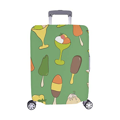 Delicious Dessert Ice Cream Spandex Trolley Case Travel Luggage Protector Suitcase Cover 28.5 X 20.5 Inch(only Dust Cover) ()