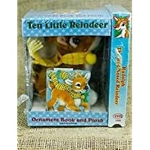 Rudolph The Red Nose Reindeer + Ten Little Reindeer Ornament Book And Plush Doll.