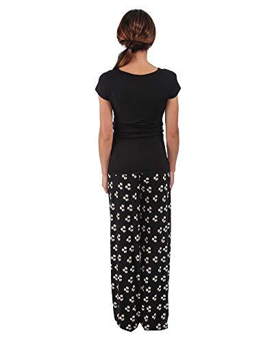 maniche donne Essential Nero 46 gravidanza One EOM135 48 Mujeres a The allattamento corte in Pigiama e per PpWqAB