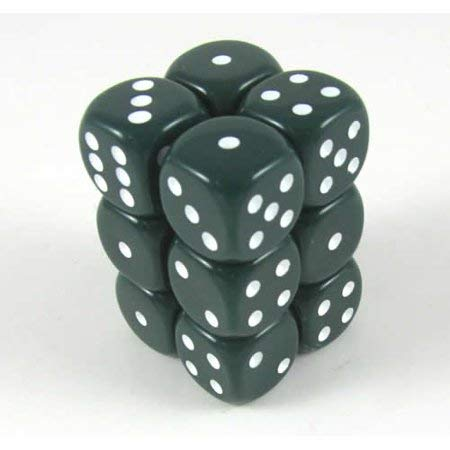 独特な Green Opaque Dice Green 16mm D6 12 Dice Dice Opaque B0037UKNOI, 日高郡:368a7a76 --- cliente.opweb0005.servidorwebfacil.com