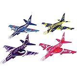Assorted Color Emoji Theme Styrofoam Glider Jet Fighter Airplane Toys (12)