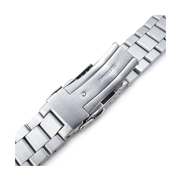 22mm-Endmill-316L-SS-Watch-Bracelet-for-Orient-Mako-II-Ray-II-Diver-Clasp-Brushed