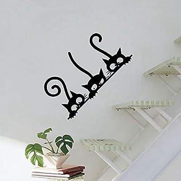 Tres gatitos gatos vinilo etiqueta de la pared Mural nevera ...