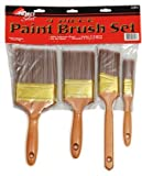 "SHUR-LINE A2204 4PC POLYESTER PAINT BRUSH SET 1"", 2"" angle, 3"" & 4"" Set NEW"