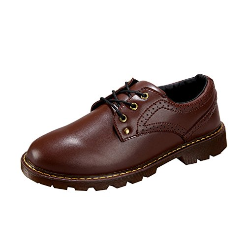 Desklets Men's Winter Autumn Buniess Leather Shoes(8 D(M) US,Brown)