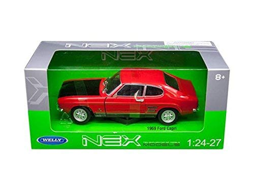1969 Ford Capri Red 1/24-1/27 Diecast Model Car by Welly 24069