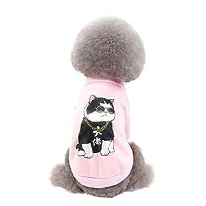 Zolimx Accesorios para Mascotas Gato y Perro Suéter de Otoño ...