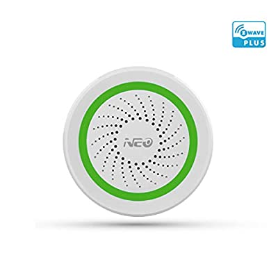 NEO Z-Wave Siren Alarm Battery-Powered & USB Power Charged Works with SmartThings, Wink, Vera
