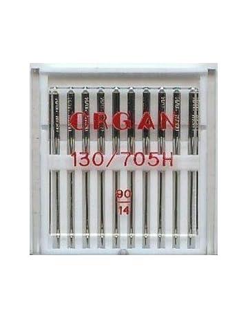 Organ - Aguja para Máquina de Coser Doméstica, Paquete de 10 Tamaño 90/14