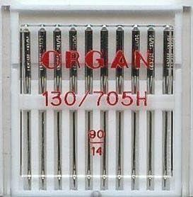 Organ - Aguja para Máquina de Coser Doméstica, Paquete de 10 ...