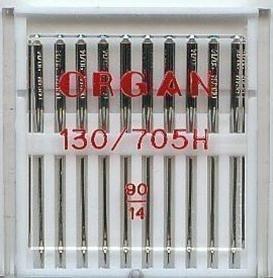 Organ - Aguja para Máquina de Coser Doméstica, Paquete de 10 Tamaño 90/14 Que Sirven para Brother, Singer, Janome, Etc.