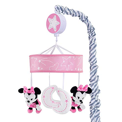 (Lambs & Ivy Disney Baby Minnie Mouse Musical Crib Mobile, Pink/Gray )