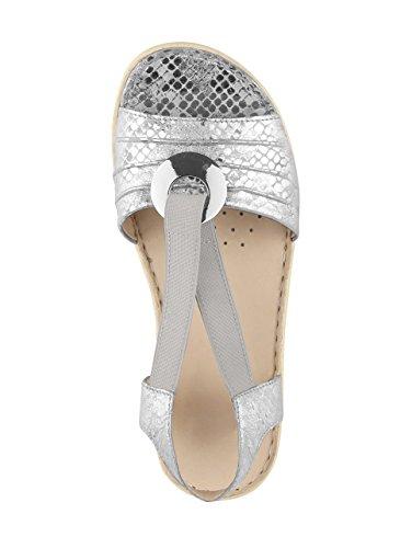 Caprice Ladies Sandalette Argenteo