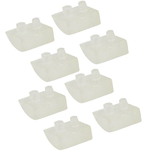 Impresa Products 8-Pack Pod Shoes for Concrete Pools - Equivalent to Hayward (TM) AXV414P/AXV014P and ProStar (TM) HWN115 - Replacement for Navigator and Pool Vac Pool Cleaners