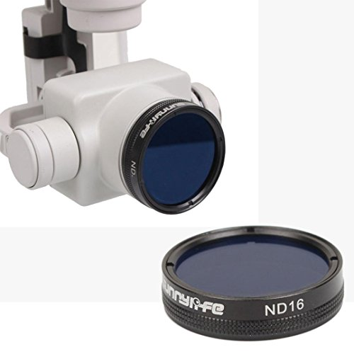 Putars HD Camera ND4 ND8 ND16 ND32 Filter Lens Accessory Perfect fitting for phantom 4PRO/4PRO+,Top level of transmittance Ultrathin.99.5% light transmittance, ultra-thin no dark corners.