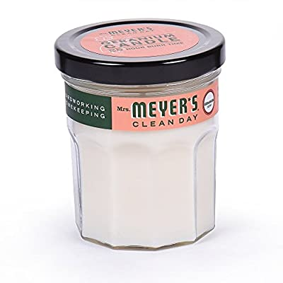 Mrs. Meyers Merge Clean Day Scented Soy Candle, Geranium, Small
