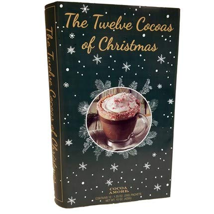The 12 Coffees, Teas or Cocoas of Christmas (Your Choice) Gourmet Gift Box Set - Best Xmas Present For Friends, Family, Coworkers, or Teachers (Cocoa)