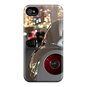 Hot Design Premium TMolP18971VFBDO Tpu Case Cover Iphone 4/4s Protection Case(nissan Gtr)