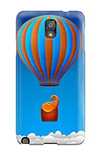 Fashionable Style Case Cover Skin For Galaxy Note 3- Elephant Flying Desktop