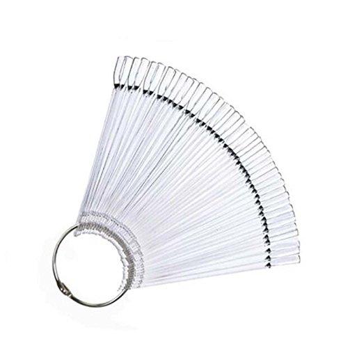 50pcs False Display Nail Art Fan Wheel Polish Practice Tip S