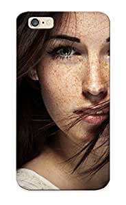 3ac104a4534 Resignmjwj Awesome Case Cover Compatible With Iphone 6 - Brunees Women Models Freckles Green Eyes Faces Portraits