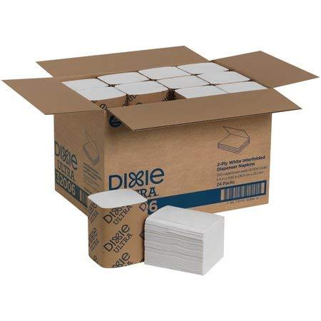 (4-pack - 1000 napkins) Dixie Ultra Interfold 2-Ply Napkin Dispenser Refill (EasyNap), GP PRO, 32006, 6.5'' W x 9.9'' L, White by Dixie Ultra (Image #2)