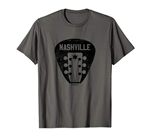 Nashville Guitar Pick T-Shirt Country Music Guitarist Gift