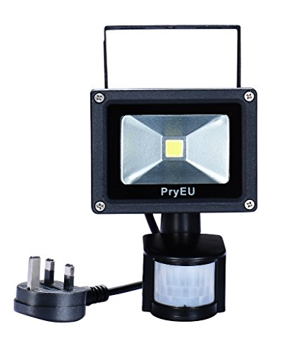 Pryeu outside led spot security flood lights floodlight 10w with pir pryeu outside led spot security flood lights floodlight 10w with pir motion sensor waterproof 800lm daylight aloadofball