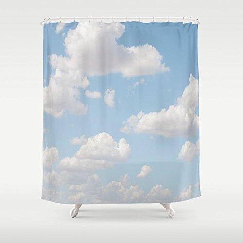 Phto Art Extra Long Shower Curtain | Custom Shower Curtain | Cloudscape Bath Decor | Daydream Clouds | Kids Bath Decor | Bathroom Set ()