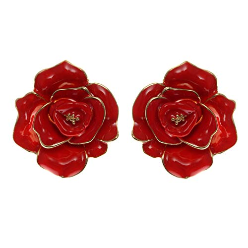Fashion Jewelry Celebrity Designer Camellia Floral Stud Earrings For Women