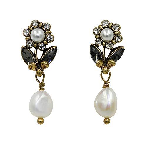 - Simulated Pearl Dangle Earrings for women, Teardrop/Flower Shape Wedding Pierced Ear Stud for Girls, Nice Birthday Gifts for Mom Sisters Friends