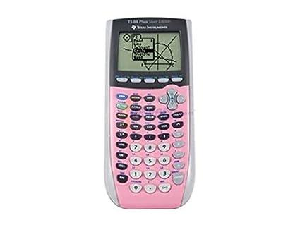 Ti-84 silver plus calculator (pink).