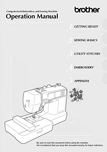 Brother Innov-is 950D Sewing Embroidery Machine Owners Instruction Manual [Plastic Comb] There and Back