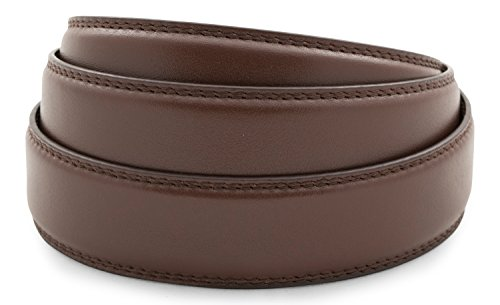 Anson Belt & Buckle Premium Chocolate Leather Strap(Strap Only) ()