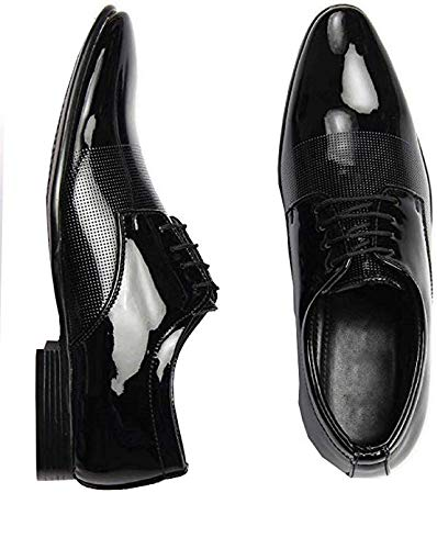 Shozie Men's Patent Leather Formal Shoes Formal Shoes