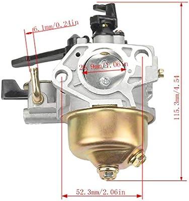 NEW AFTERMARKET HONDA GX390 13HP CARBURETOR 16100-ZF6-V01 WITH 2 GASKETS