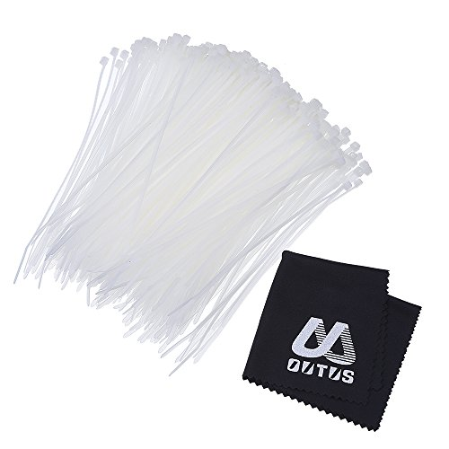 Outus Nylon Cable Zip Ties Self-locking 4 Inch, 1000 Pack ()