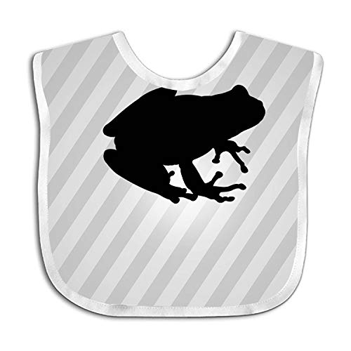 Baby Bib Large Toddler Tree Frog Silhouette Feeding Reflux Drool Teething Snap