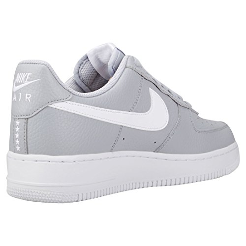 Nike Air Force 1 07, Scarpe da Ginnastica Uomo Nero (Wolf Grey/White 013)