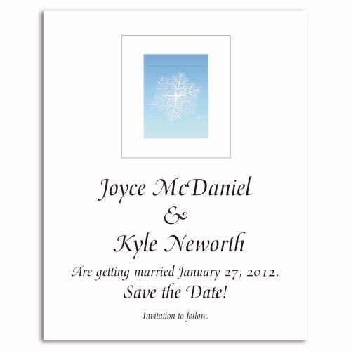 Snowflake Save The Date Magnet